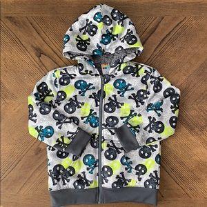 Healthtex Sherpa Lined Full Zip Hoodie with Skulls